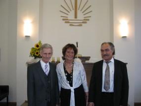 """Das Silberpaar mit """"Brautvater"""" Herbert Kraus"""