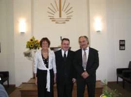 Das Silberpaar Gaby und Tony Kovacic mit Vorsteher (Mitte)